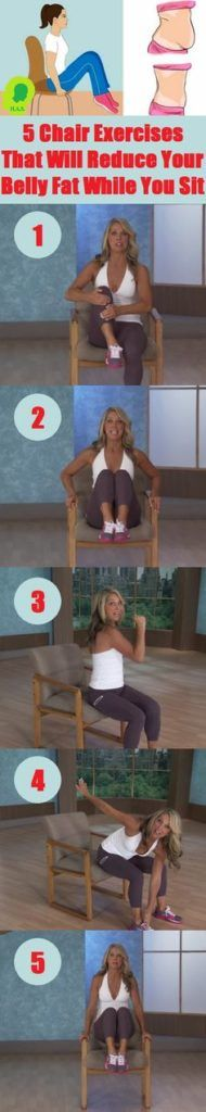5 Chair Exercises That Will Reduce Your Belly Fat While You Sit :http://healthyload.com/5-chair-exercises-will-reduce-belly-fat-sit/
