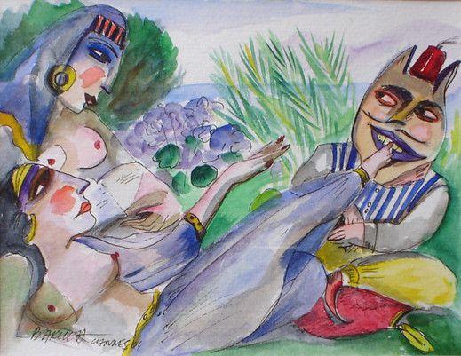 Obraz Przygoda w Haremie - Artysta Hanna Bakuła