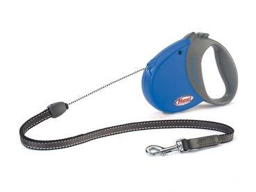 #Flexi Comfort Basic Seil-Roll-Leine mit Soft-Griff blau anthrazit.