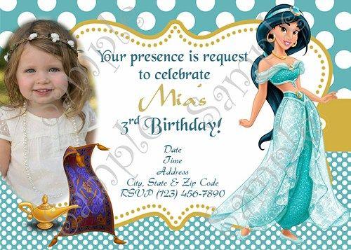 10 best princess jasmine birthday aladdin and jasmine birthday princess jasmine birthday party invitation free thank you card stopboris Image collections