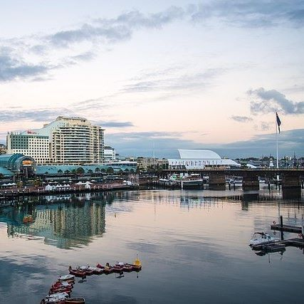 Prime spot for sunset watching. 😊 #darlingharbour #sydney #harbourside