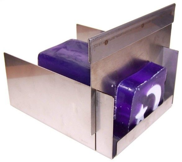 You can cut the soap loaves with a knife but if you use a soap cutter you can achieve more uniform soaps and it's quicker. Internal Dimensions: Hight: 7.5cm, Width: 14cm, Depth: 17cm; Width between th
