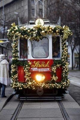 *****Christmas Tram in Vienna, Austria, Check www.chillwall.com to stumble upon fun things to do in the city.