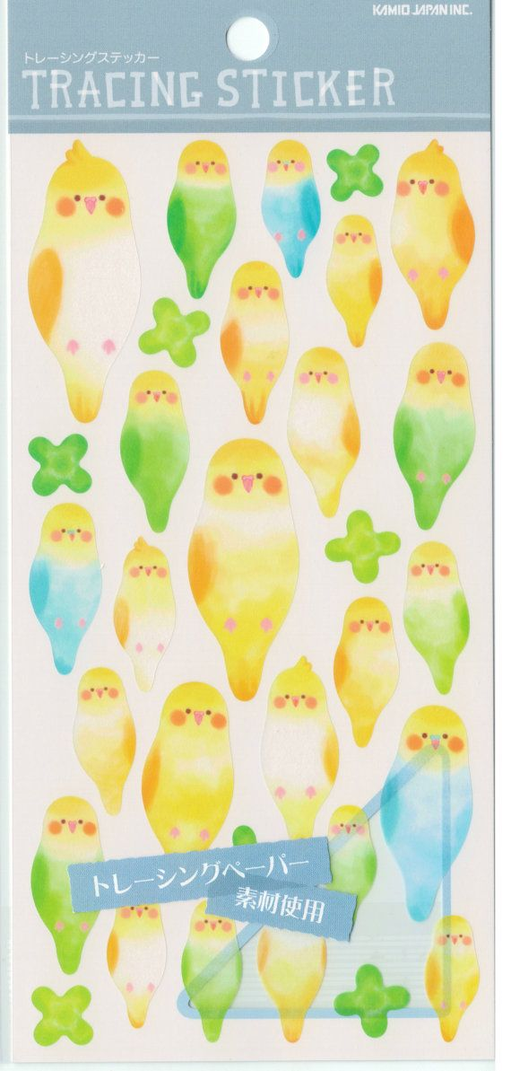 Kawaii Japan Translucent Tracing Paper sticker Sheet by mautio
