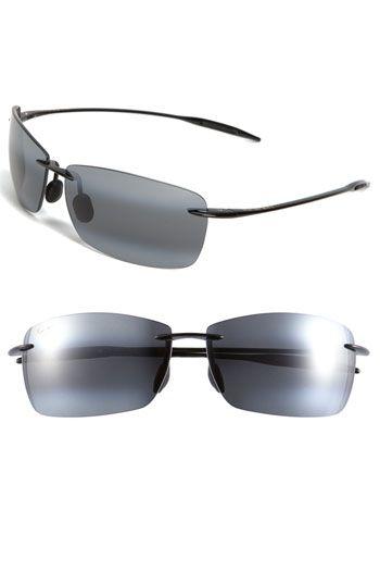 Maui Jim 'Lighthouse - PolarizedPlus®2' 65mm Rimless Sunglasses