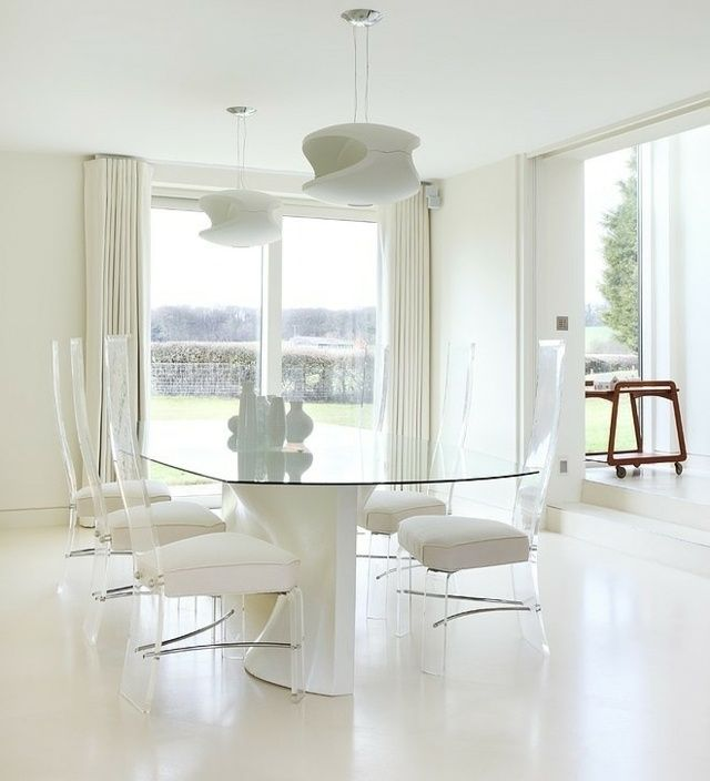 The 25+ Best Ideas About Stühle Weiß On Pinterest | Grauer Stuhl ... Esszimmer Einrichten Creme Weiss