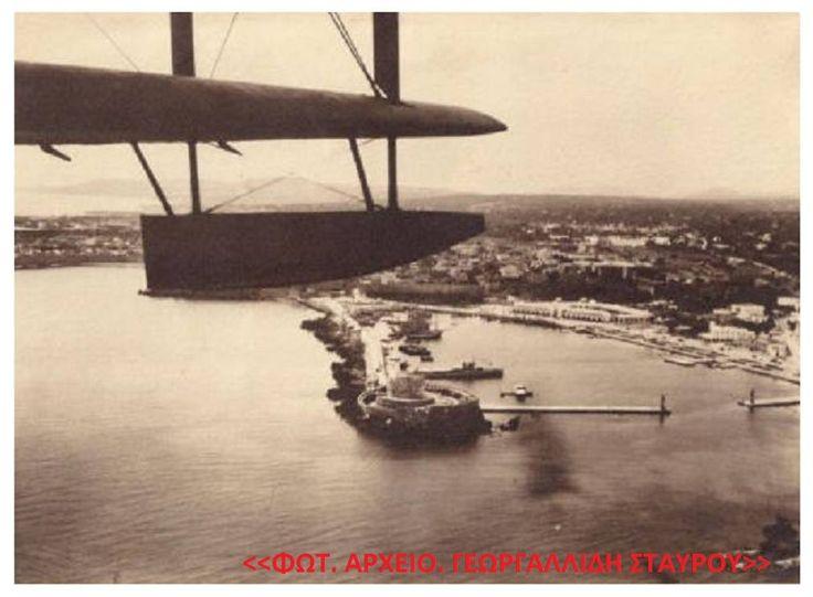 Φωτογραφία του χρήστη Γεωργαλλίδης Σταύρος η Ρόδος του Χτες.  Ρόδος. Πανόραμα της πόλης απο Υδροπλάνο 1930 ..