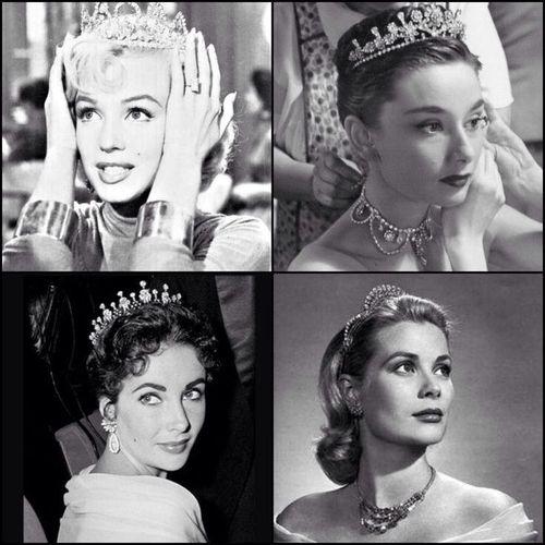 Marilyn Monroe Audrey Hepburn Grace Kelly Elizabeth Taylor