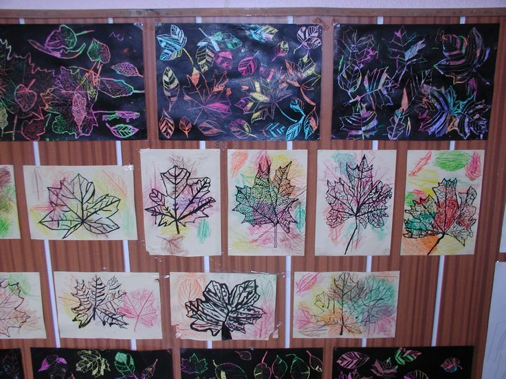 obrázky, na kterých jsou práce dětí ze školy