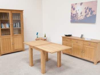 Flip Top Lichfield Oak Table 80cm extending to 160cm