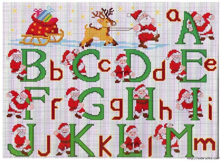 Resultado de imagen de cross stitch christmas alphabet patterns