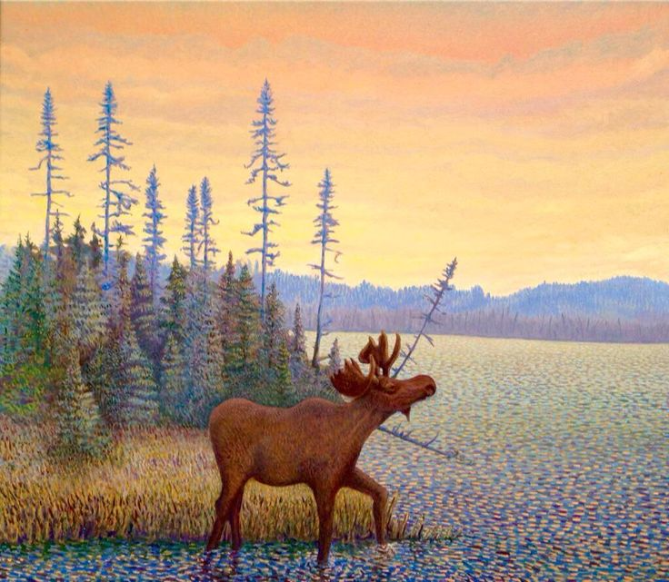 Morning Moose, Costello Creek 2015 oil 22 x 24 @Mark_Sanche @AllArtNow #art #fineart #painting #oilpainting #artist