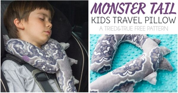Vanessa from Tried and True shares a free pattern for her Monster Tail Kid's Travel Pillow. She gives a travel neck pillow the cutest spin by shaping it like a monster tail and adding fierce...