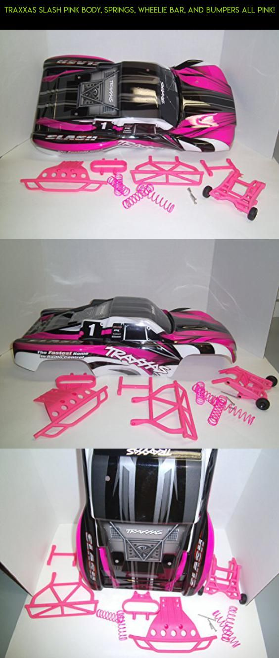 Traxxas Slash Pink Body, Springs, Wheelie Bar, and Bumpers ALL PINK! #gadgets #camera #wheelie #bar #shopping #tech #parts #racing #traxxas #drone #technology #fpv #kit #plans #products