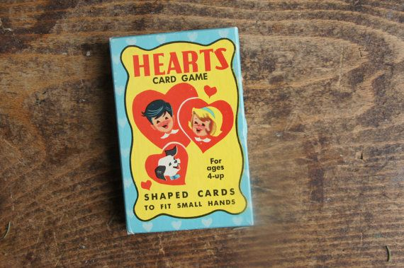 Hearts Card Game Shaped Cards  Warren Built by smileitsvintage