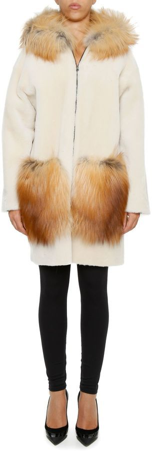 Inès & Marèchal Shearling And Fox Fur Bonbon Parka