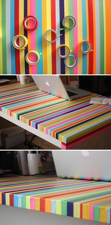 DIY Rainbow Table for my desk that Will bought
