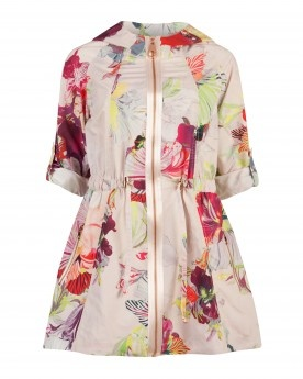 Treasured orchid print parka - GARNIA (Love the exposed front zipper)