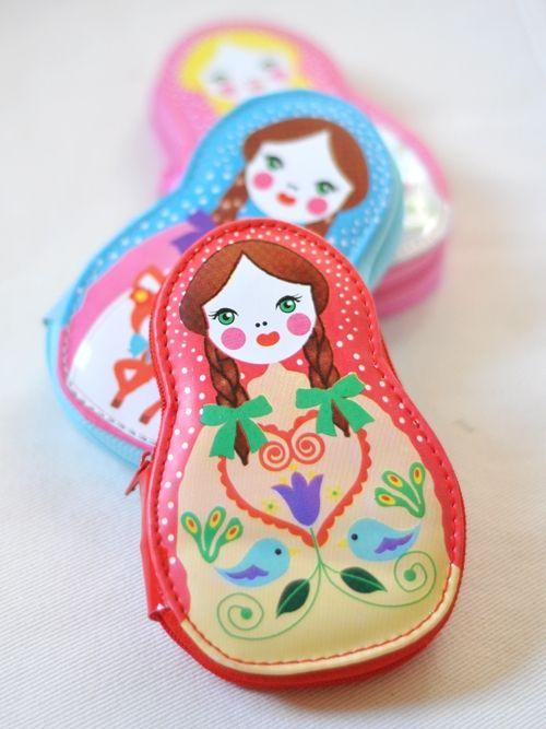 Russian doll sewing kits via Dolly Bobbins
