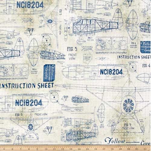 Check out the deal on Tim Holtz fabric, Model Airplanes at artisticartifacts.com