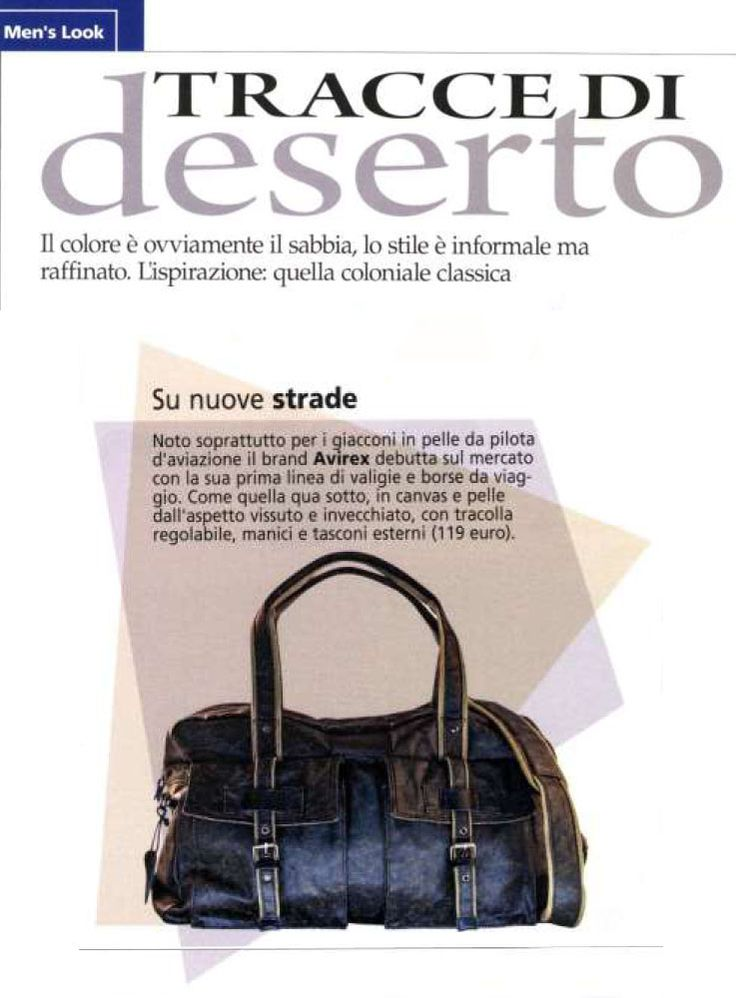 "#Avirex Alifax Hand Bag is on ""For Men"" this month."