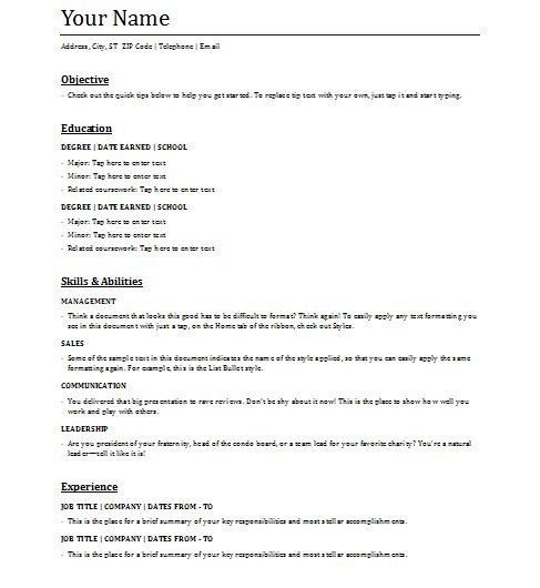 The 25+ best Functional resume template ideas on Pinterest Cv - sample resume format for job