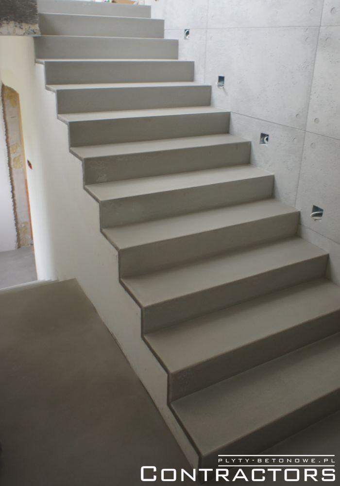 Betonowe schody i płyty z betonu architektonicznego Łódź