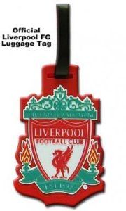 Liverpool FC Luggage Tag by Liverpool F.C.. $8.30. This official Liverpool FC luggage tag is made from flexible rubber and has a water proof name and address label on the reverse. Now available for immediate delivery. A must for all Liverpool FC fans.