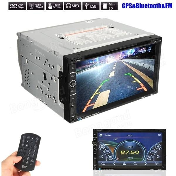 6.95 inch Car GPS Navigation Bluetooth Stereo Radio CD DVD Player Double 2 DIN Touchcreen