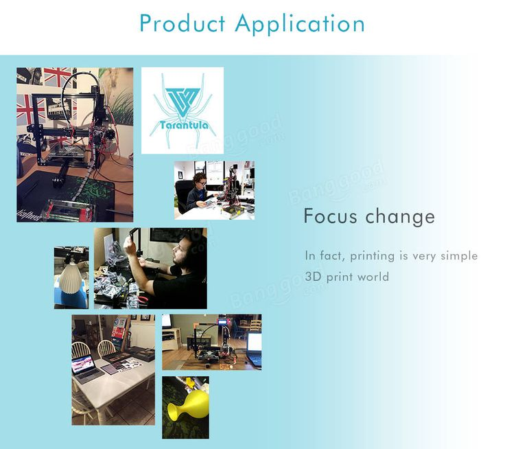 TEVO® Standard Tarantula Prusa I3 DIY 3D Printer Kit 200x200x200mm Printing Size 1.75mm 0.4mm Nozzle With 2x 0.25kg Filament