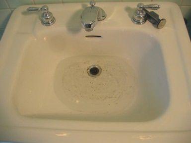 Photo Of Clogged Bathroom Sink