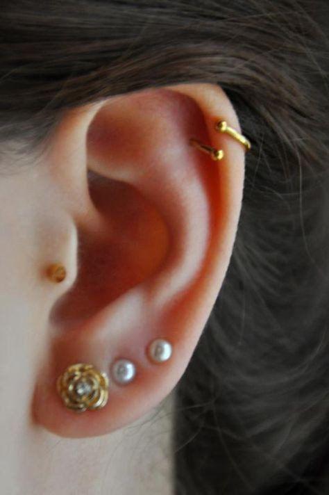 Pearl Piercing Earrings at MyBodiArt