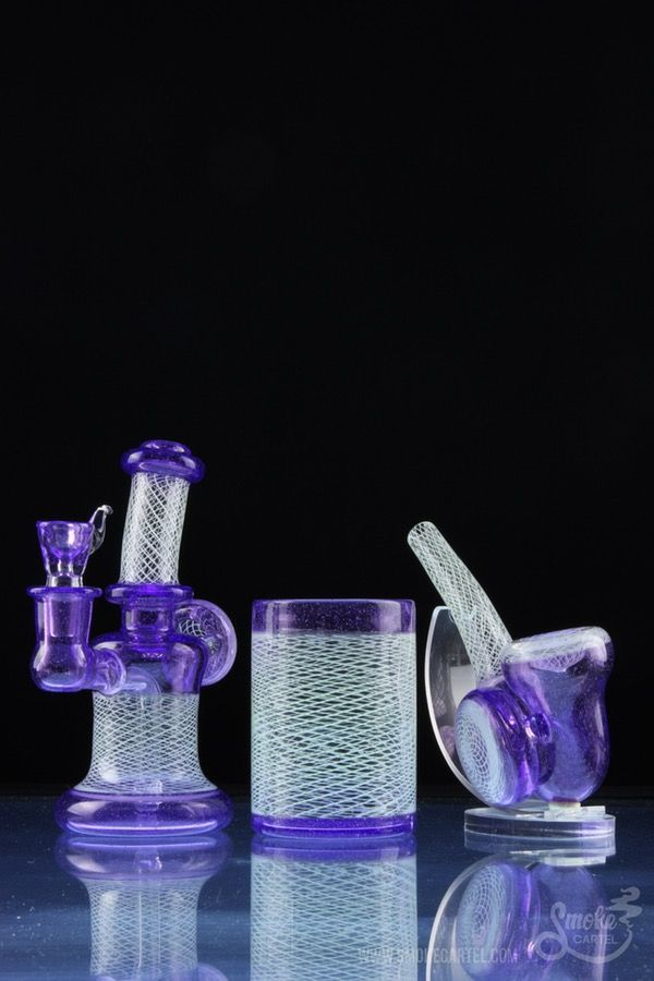 Keelo Glass & SPG Collaboration Set With Rig, Sherlock and Q-Tip Holder - Keelo Glass & SPG Collaboration Set With Rig, Sherlock and Q-Tip Holder