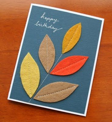 I love the look of sewing fabric onto a card! Definitely gonna try this!