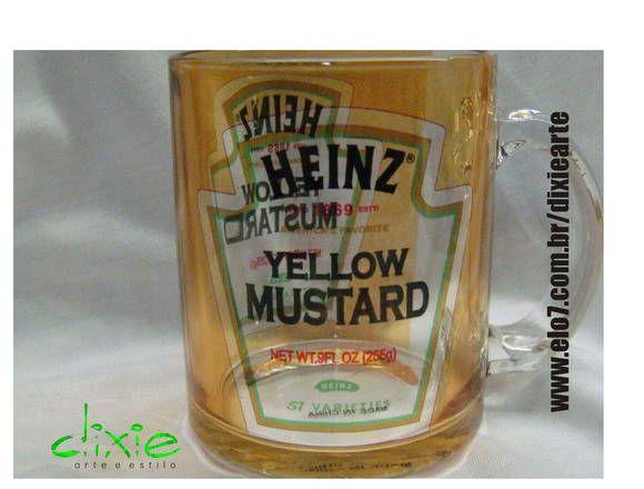 Heinz Mustard mug  ☛ www.facebook.com/vitrineme ☚