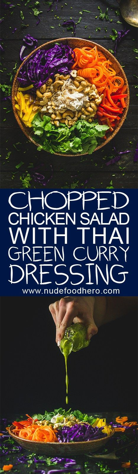 Chopped-Chicken Salad with Thai Green Curry Dressing