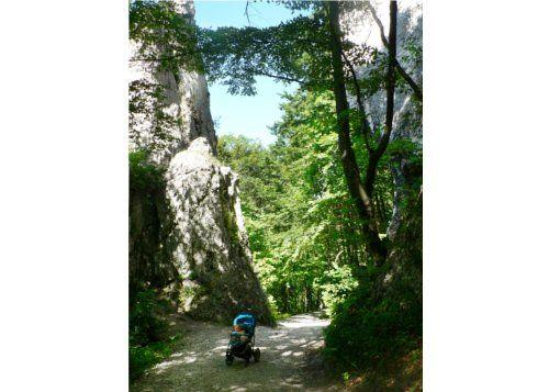 Dolina Będkowska - Czarcie Wrota - brama skalna przy wyjściu z doliny w stronę Będkowic