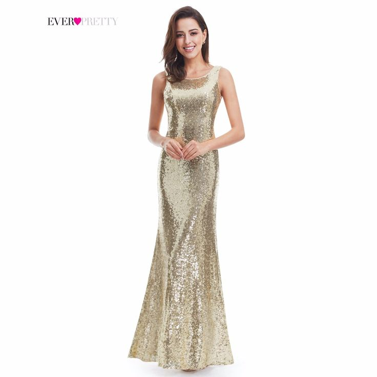 Gold Long Evening Dress Ever Pretty Back Cowl Neck EP07110GD Shine Sequin Sparkle Elegant Women 2017 Evening Party Gown-in Evening Dresses from Weddings & Events on Aliexpress.com | Alibaba Group