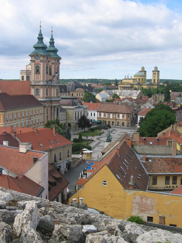 2008 - Eger, Hungary - view of the town square from the castle