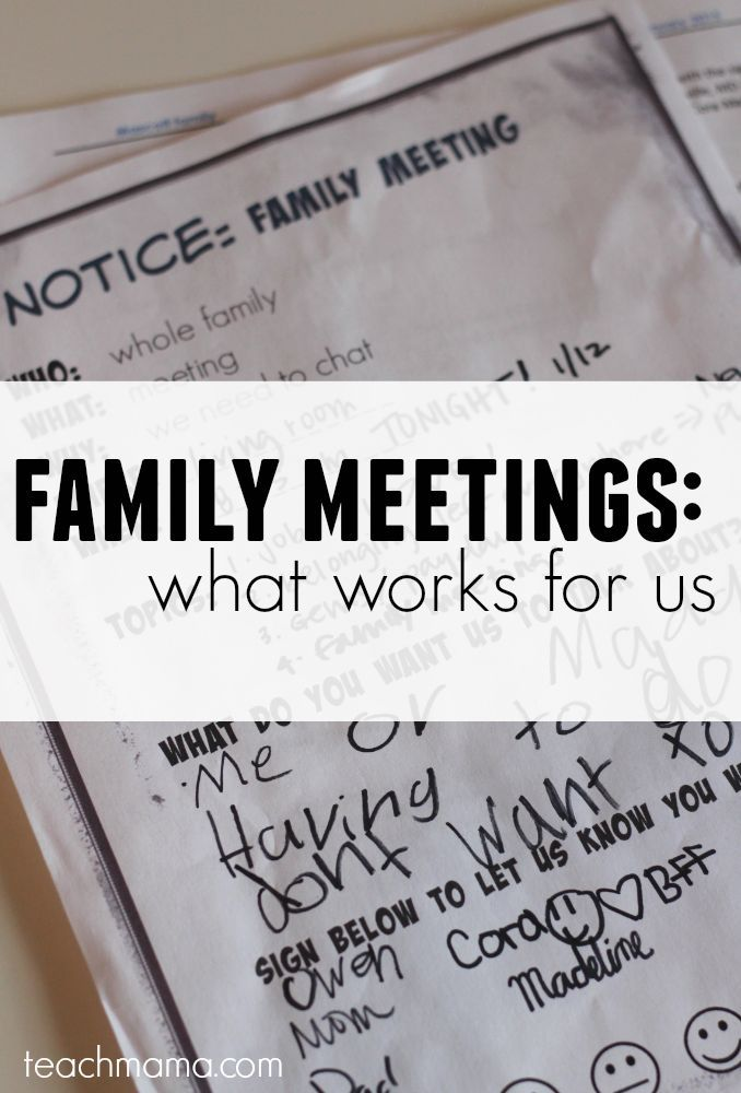 how to have a family meeting teachmama.com