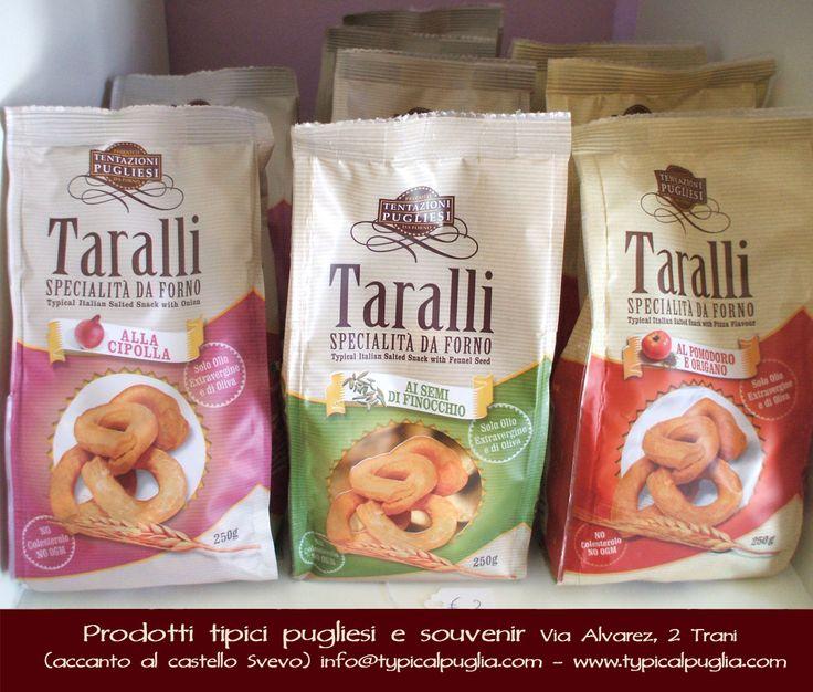 TYPICAL PUGLIA Prodotti Tipici pugliesi e souvenir Via Alvarez, 2 (accanto al Castello Svevo) - 76125 Trani (BT) - Italy Website: www.typicalpuglia.com E-mail: info@typicalpuglia.com