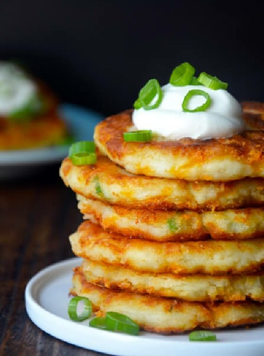 Low FODMAP and Gluten Free Recipe - Chive, potato & cheese fritters