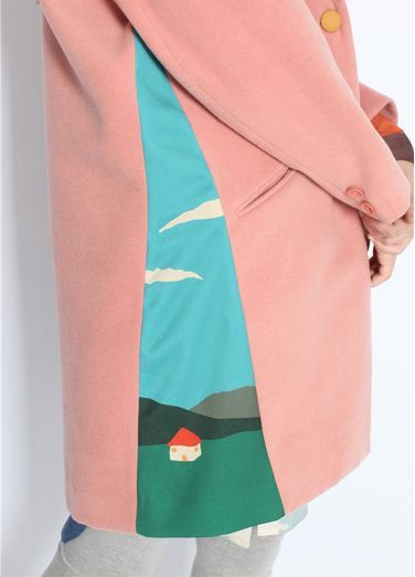 Preorder limited edition Neverland Collection pink mixed my sweet little home under blue sky designed coat by PurpleFishBowl2 on Etsy https://www.etsy.com/listing/168591220/preorder-limited-edition-neverland