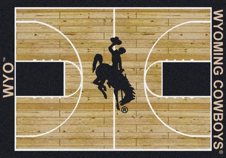 University of Wyoming Cowboys Basketball Court Rug | eBay