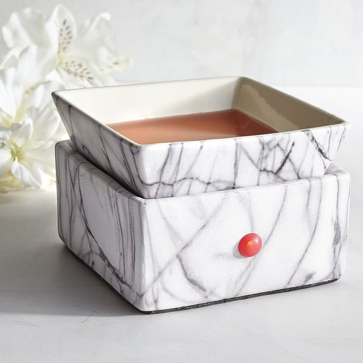 Marble Electric Oil Warmer White