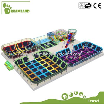 Customized Bounce Commercial Large Indoor Trampoline Zone
