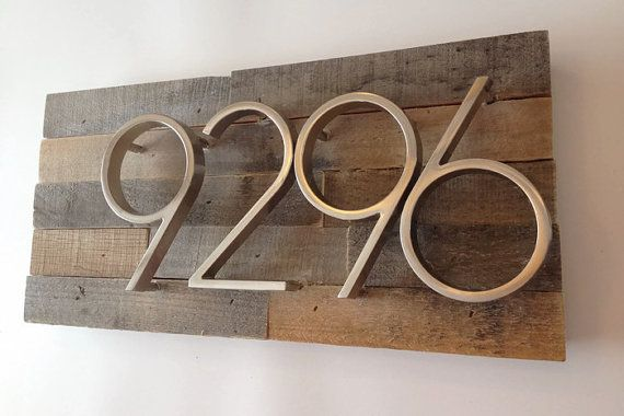 Custom Address Plaque made from Reclaimed by MadeWithBeerInHand