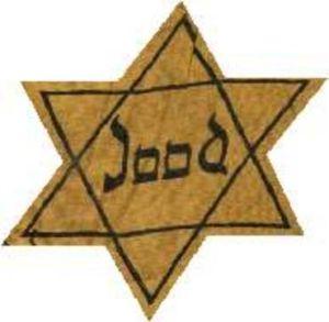 deze ster moesten de joden in de 2e wereldoorlog dragen
