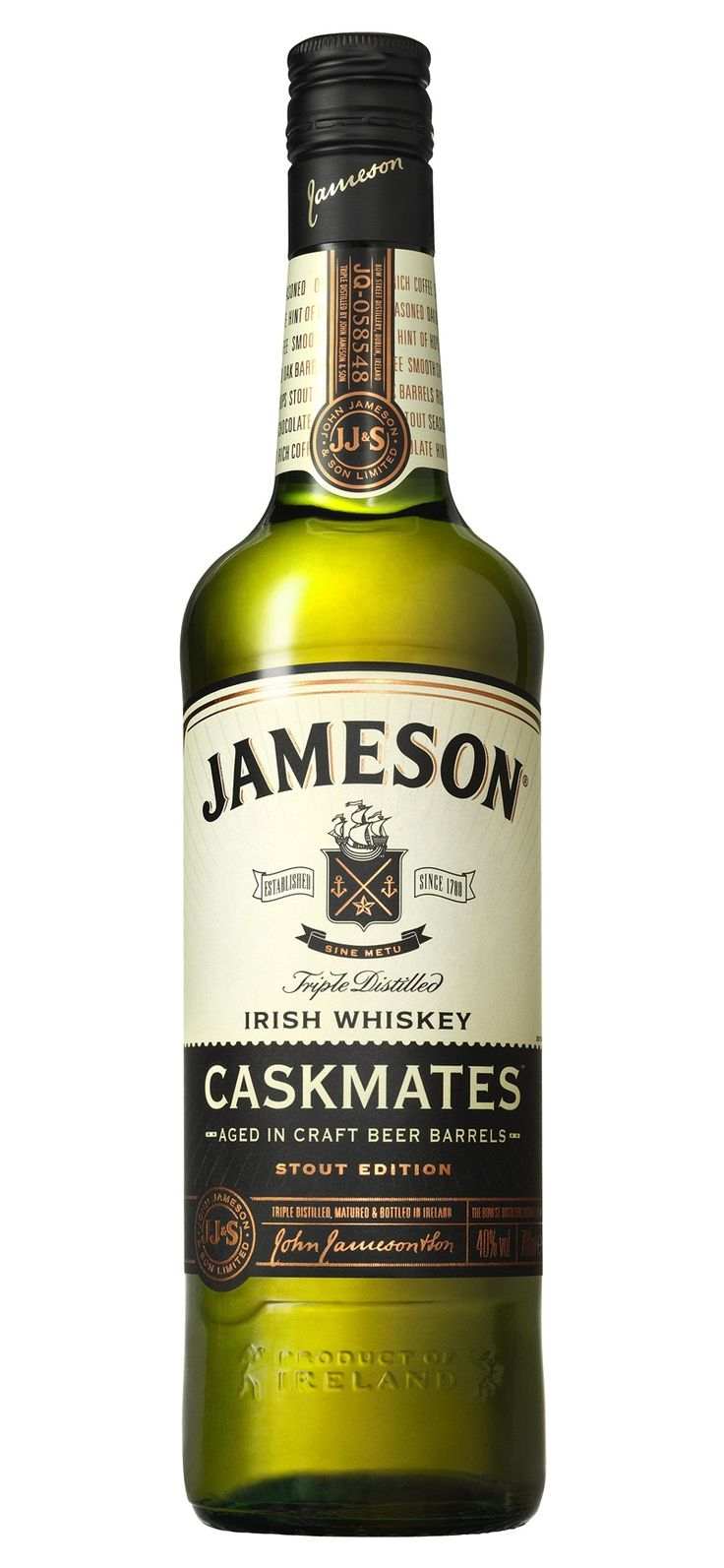 An Irish whiskey from casks that have previously held a craft brewer's stout has been launched by Jameson.