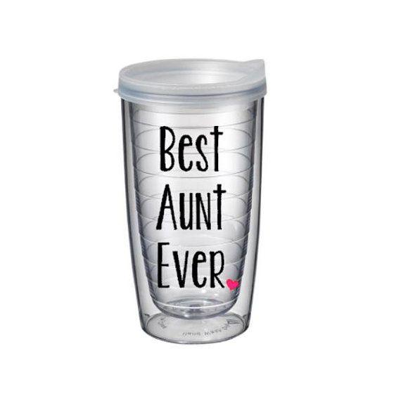 Best Aunt Ever Pacific Tumbler 16 oz - Awesome Aunt, Gender Reveal Aunt, World's Best Aunt,  Aunt Mother's Day, Pregnancy Announcement Aunt